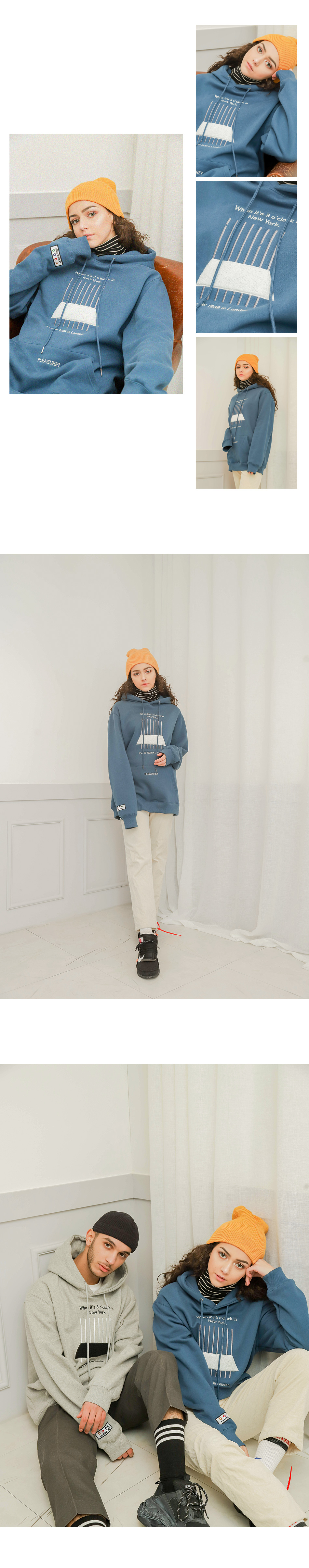 라모드치프 LAMC NEW YORK LINE HOODY (GRAY)