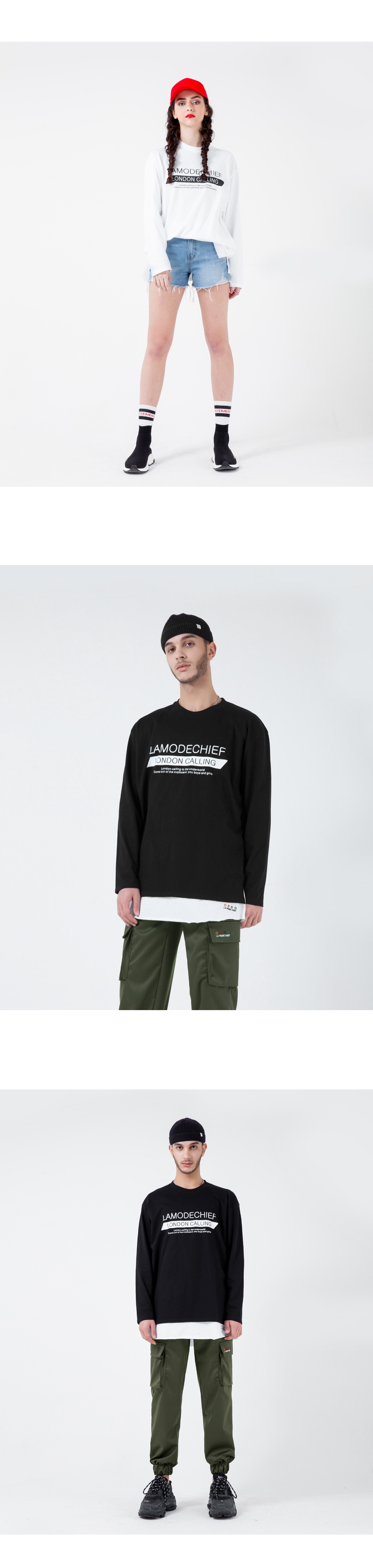 라모드치프 LAMC MULTI WRITING LONG SLEEVE (BLACK)