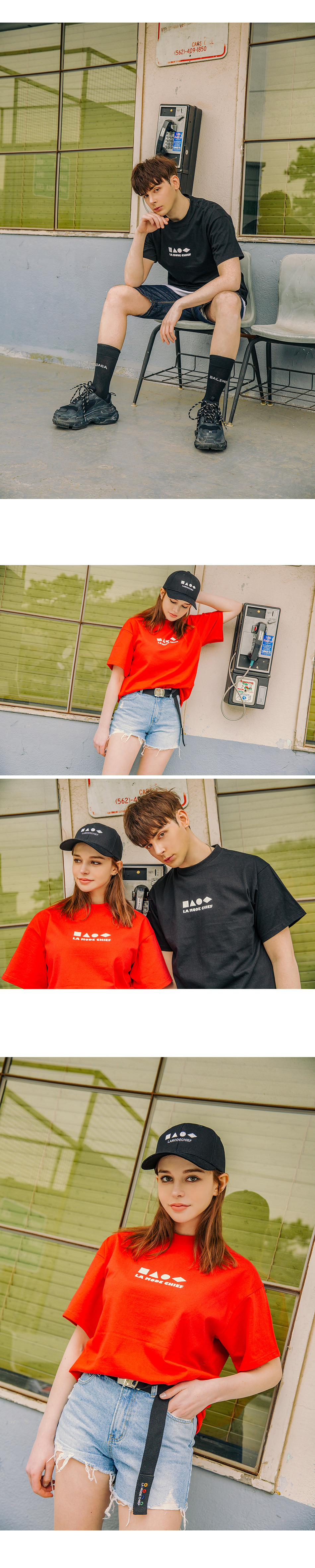 라모드치프 LAMC SHAPE SHORT SLEEVE (BLACK)