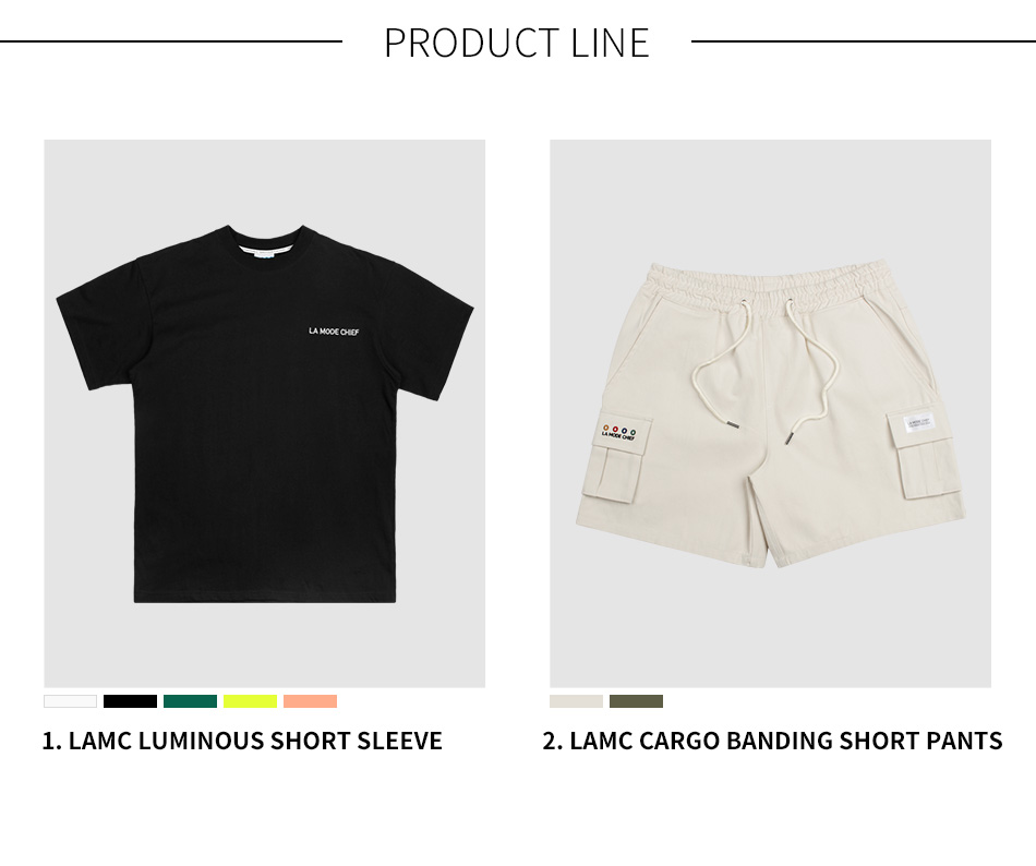 라모드치프 (1+1) SHORT SLEEVE + PANTS SET No.4